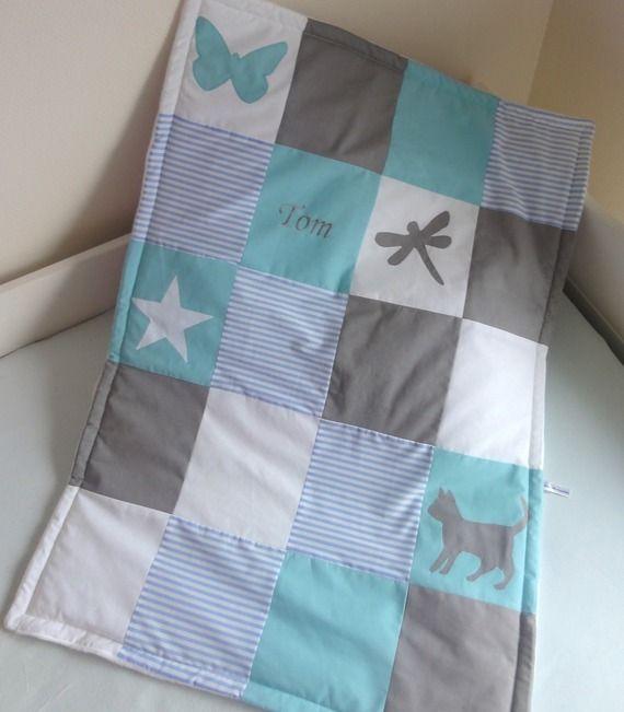 Couverture/plaid bébé patchwork - 100% personnalisable - 70x80 ou 65x85