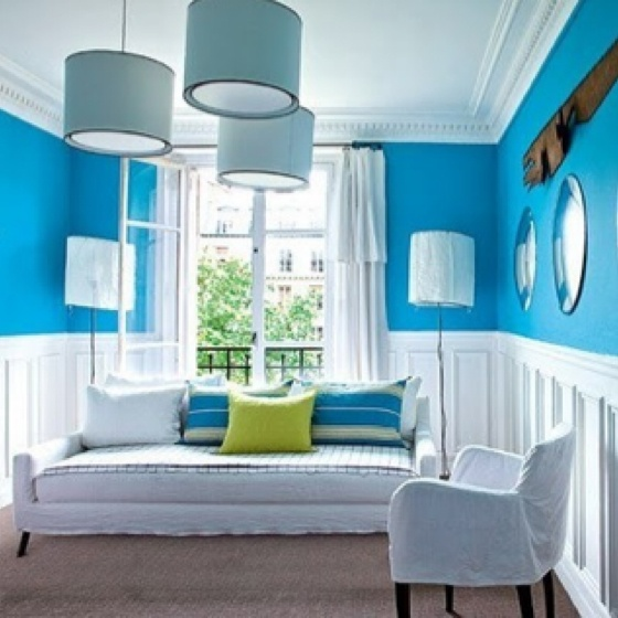 Caribbean blue room color combinations and home decor for Caribbean living room ideas