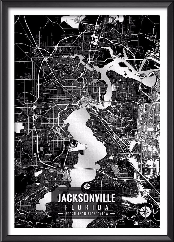 Jacksonville Florida Map with Coordinates 458 best