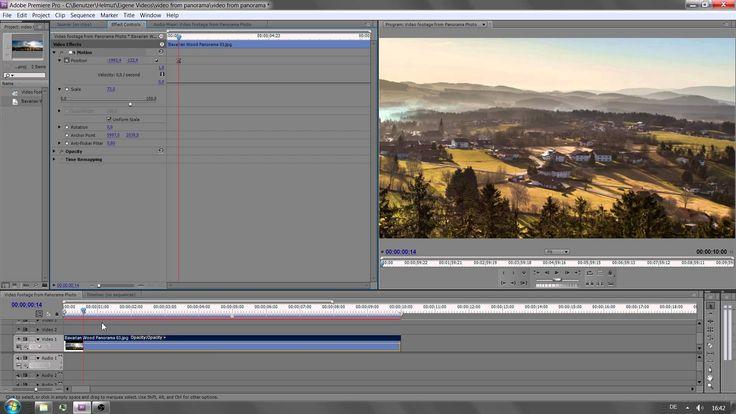 So erstellt man aus einem Panorama Foto ein Video