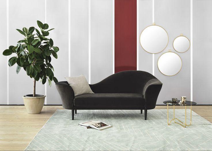 GUBI // Grand Piano sofa in Velluto di Cotone 130, Matégot coffee table with smoked glass and Randaccio mirrors in all sizes