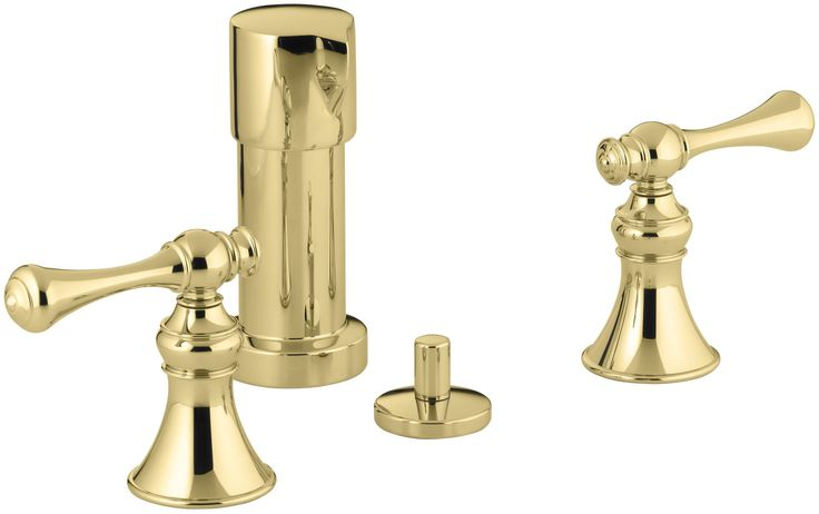 Revival Vertical Spray Bidet Faucet with Traditional Lever Handles