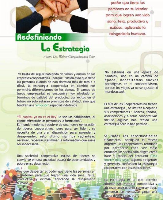 LA ESTRATEGIA EN LAS COOPERATIVAS: LA MARCA COOPERATIVA Y EL MERCADO DE LA SOLIDARIDAD