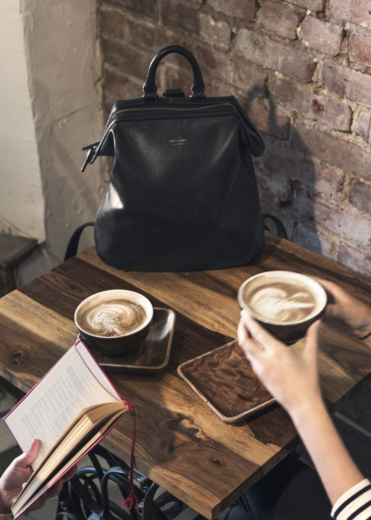 Soy lattes & Vignelli backpack, ALL NEW style for FALL 2015.