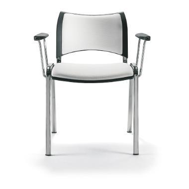 Silla Iso Smart asiento y respaldo tapizado. Con una amplia variedad de colores, su moderno diseño define la calidez y ambientación de los espacios.