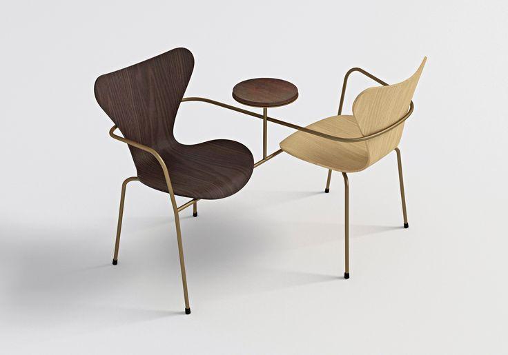 7 Cool Architects ǁ Designer: Neri&Hu Design & Research Office ǁ Fritz Hansen Series 7™ chair (3107) by Arne Jacobsen
