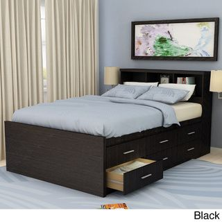 Sonax 2 Piece Double Full Size Captains Storage Bed And Bookcase