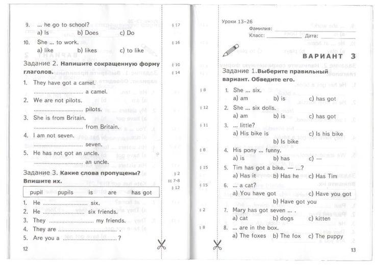 5-6 класс биболетова перевод текста про амелию беделию