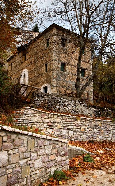 Stone mansion.. Polythea, Trikala, Greece (by Hercules Milas)