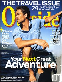 Outside Magazine, April 2008, featuring actor Paul Walker