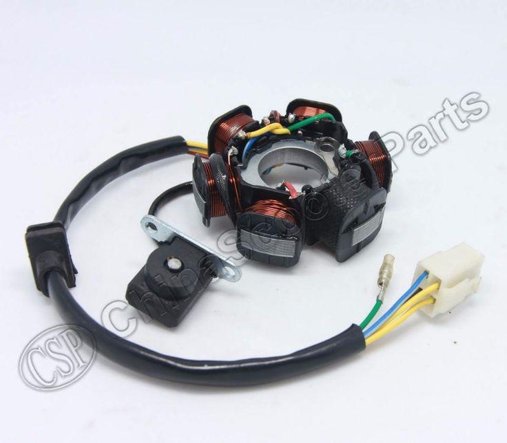 buy magneto stator 6 pole coil 5 wire 50cc 70cc 90cc 110cc 125cc lifan zongshen loncin xmotos apollo #pit #bike #125cc