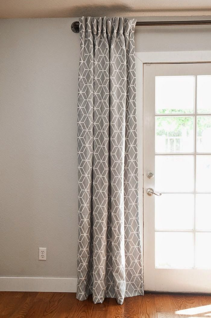 Hang Rod Close To The Ceiling Even On French Doors. Gray Curtains Over French  Doors.but Possibly With A Navy Wall. Beige Wall Would Also Work.
