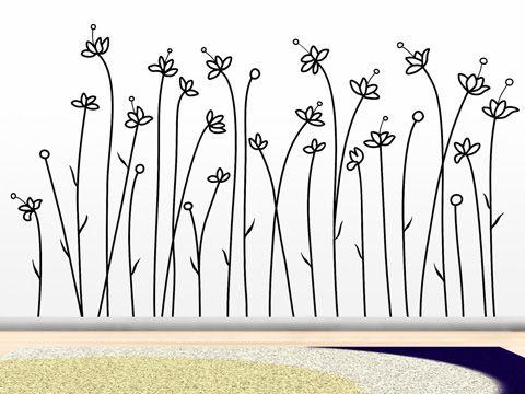 Flores Blancas - vinilo decorativo de la colección Florales - PROYECTO VINILO ®