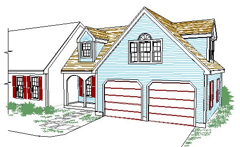 Cape style  Garage and entry addition  with Master BR suite over.