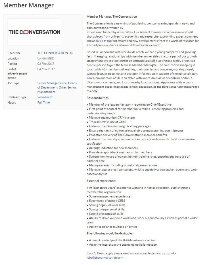 Best 25 Job cover letter examples ideas on Pinterest Resume