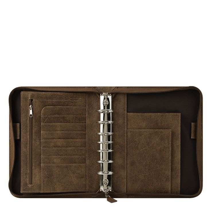 Classic FranklinCovey Basics Simulated Leather Binder - Brown