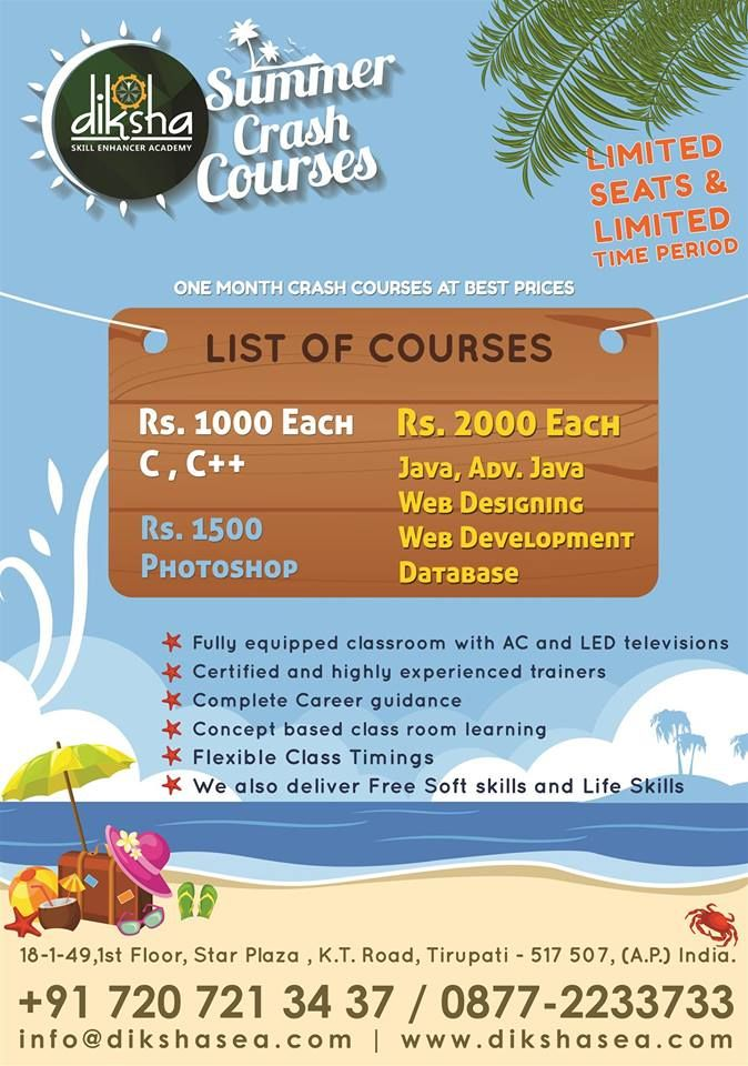Summer #IT #Courses at #Diksha SEA with Best Prices  Get #Free #Soft