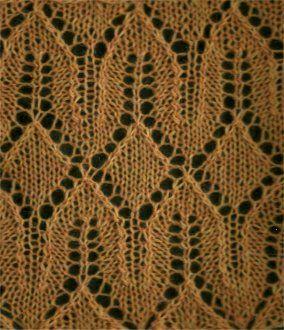 Horseshoes And Diamonds - Knittingfool Stitch Detail