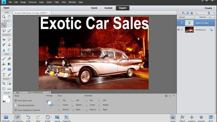 Photoshop Elements: How to make a Business Card