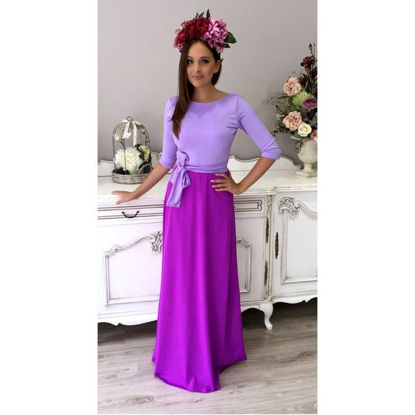 Maxi a Line Women's Lilac Light Purple Dress Round Neck Open Back 3/4... (£73) ❤ liked on Polyvore featuring plus size women's fashion, plus size clothing, plus size dresses, dresses, light purple, women's clothing, purple dresses, open-back maxi dresses, lavender cocktail dress and a-line cocktail dresses