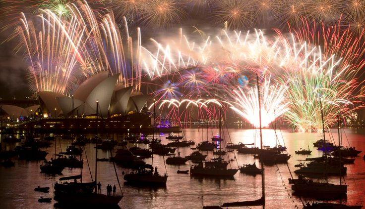 New Year's January 1, 2015 Sydney, Australia fireworks..