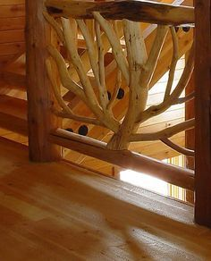 Great Misty Mountain Furniture Handcrafted log railings and stairways Goebel Project