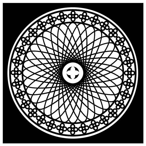 Mandala da colorare in velluto con pennarelli inclusi: forza interiore - Cornici e Quadri - Complementi d'Arredo - Arredamento
