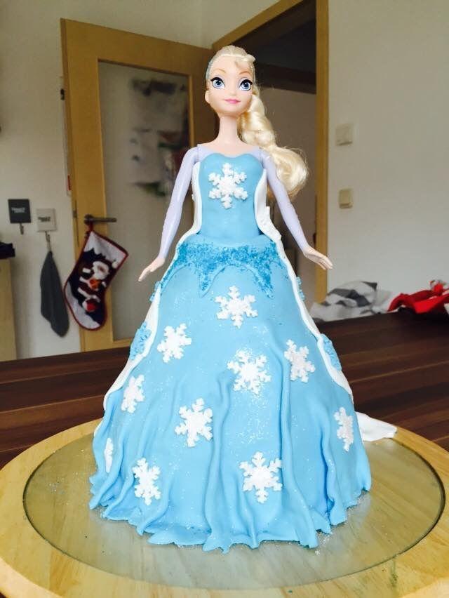 Torte Puppe Elsa Eiskönigin