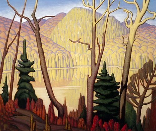"Lawren Harris (Canadian, 1885-1970) - ""Lake In Algoma"", c.1925. Oil on canvas."