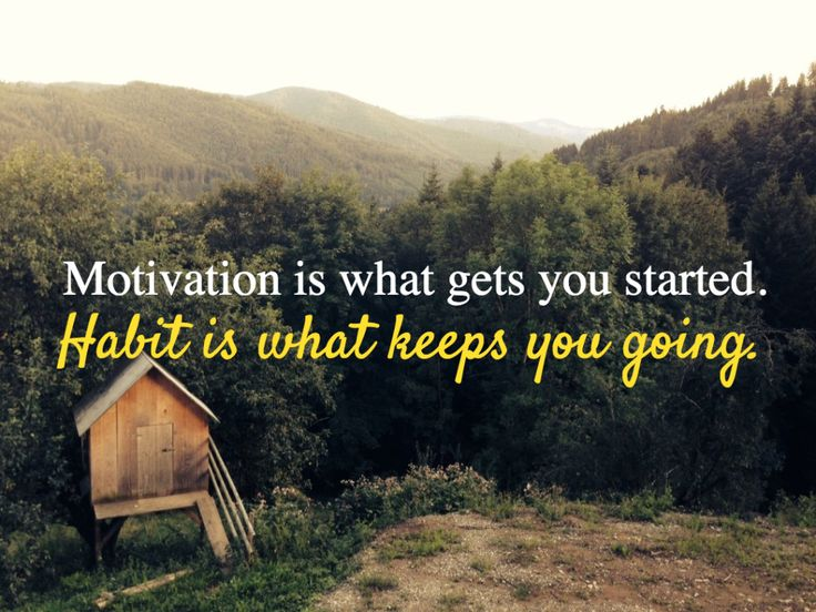 Motivation is what gets you started, habit is what keeps you going.