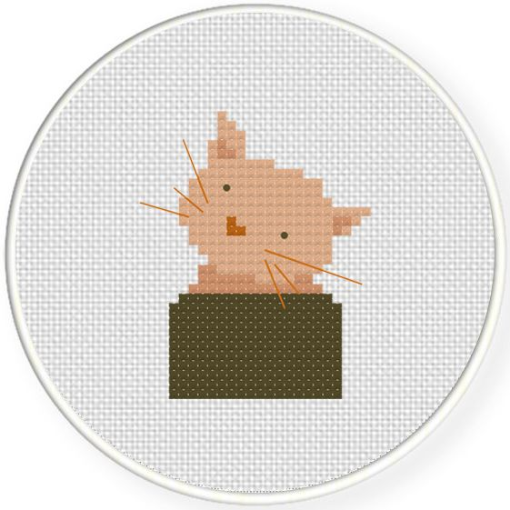 FREE for Nov 20th 2015 Only - Cat Peek Cross Stitch Pattern