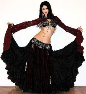 tribal belly dance | Tribal Belly Dance Reversible 25yd Cotton Gypsy Skirt | Shop fashion ...