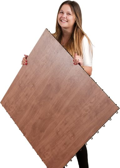 Lightweight portable dance floor pannel.meets your needs, but also stays within your budget. The price on our flooring is based on style and ranges between $4.99 - $6.25 per sq ft. Other costs to consider are beveled edges or a storage cart Dark Maple dance floor with edging