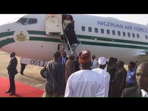 Welcome Back President Buhari:  See how the President Landed after Medic...