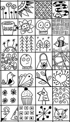 A Bird On The Head: Wacka Doodle Inchies