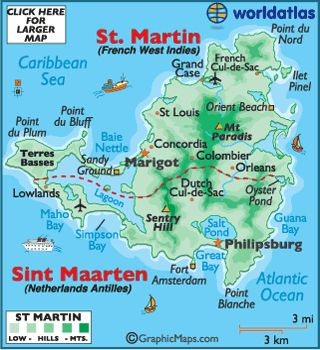 St. Martin on one side Sint Maarten, very interesting place