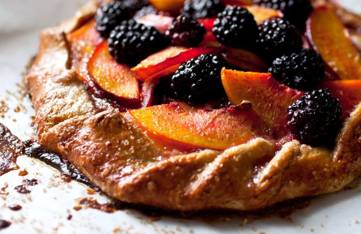 Nectarine or Peach and Blackberry Galette | Recipe