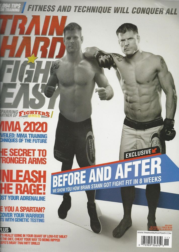 Brian Stann in Train Hard Fight Easy magazine
