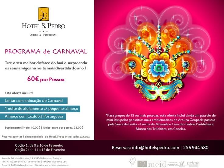 Programa de Carnaval | Hotel S. Pedro    Já escolheu o seu disfarce?