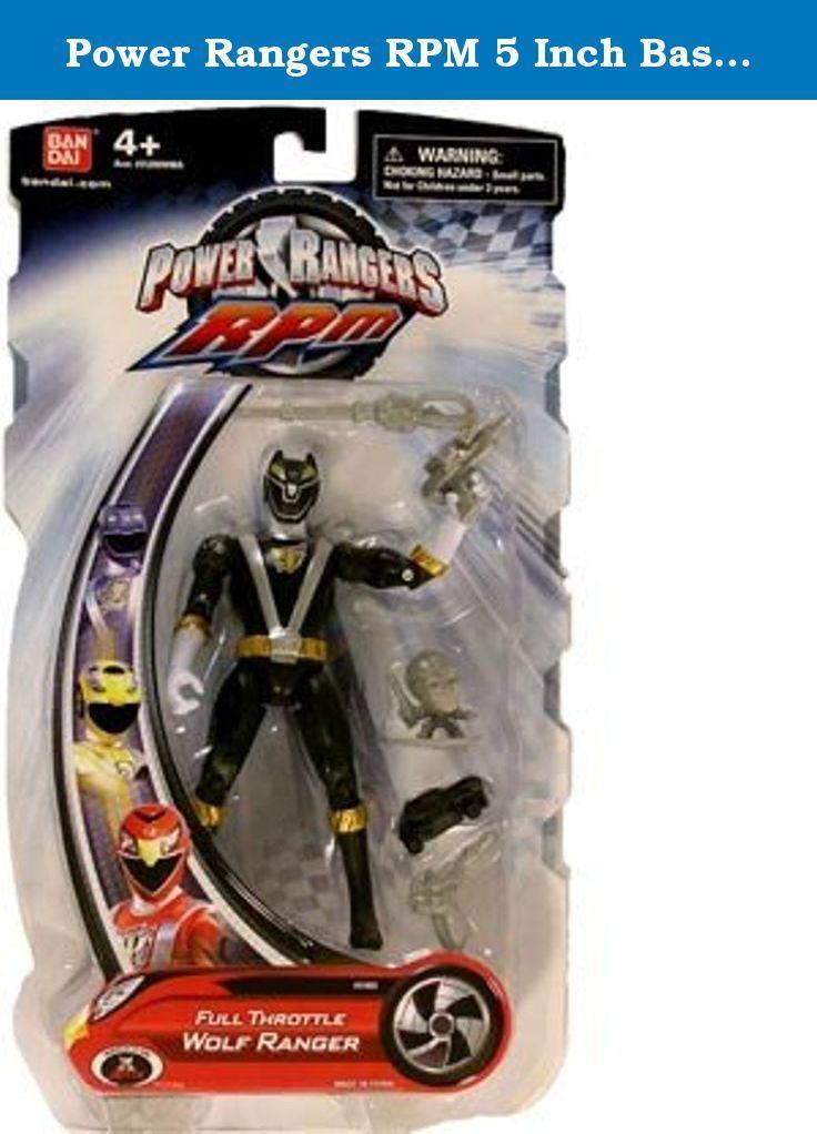 Power Rangers RPM 5 Inch Basic Action Figure Full Throttle Wolf Ranger (Black). Power Ranger 5 Inch Action Figure Full Throttle Wolf Ranger Black.