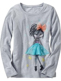Girls Embellished Graphic Tees | Old Navy