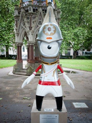 'Household Cavalry' Mandeville mascot for the 2012 Olympics in London, England