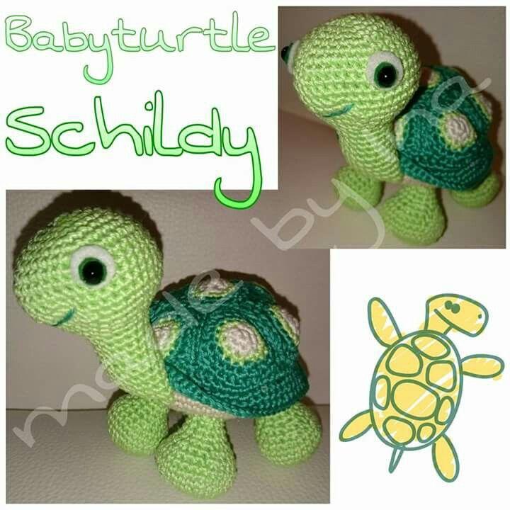 Babyturtle (englishe Anleitung)  Anleitung: https://www.etsy.com/de/listing/62781801/baby-turtle-pdf-crochet-pattern?ref=market  Arbeit & Bilder meins <3