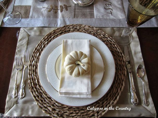 Calypso In The Country: Fall Table Setting