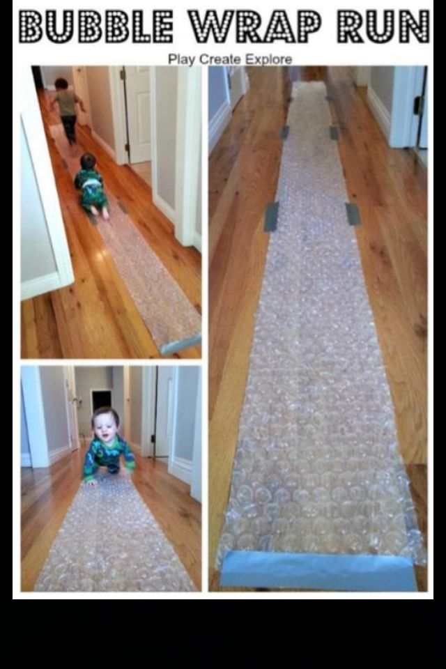 If my kid loves bubble wrap as much as I do this is going to be a blast!