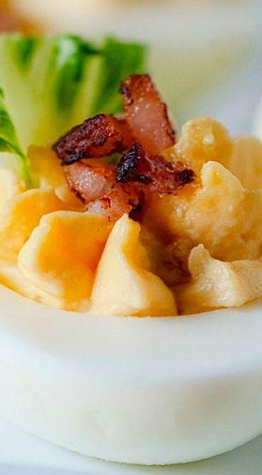 Bacon Caesar Salad Deviled Eggs | Bacon, Deviled eggs and Caesar salad
