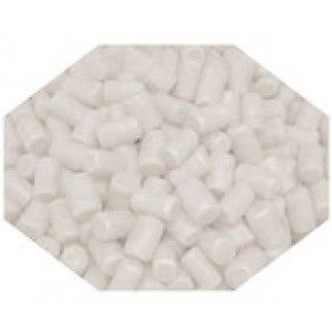 A bulk 1kg bag of white candy coated marshmallows.