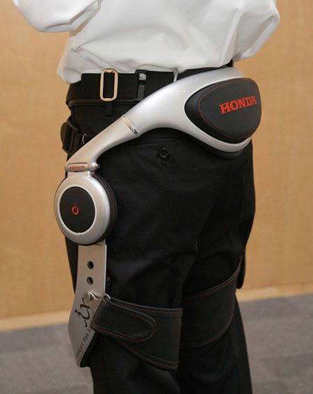 Honda Walking Assist Device for The Elderly and Other People with Weakened Leg Muscles: Honda has made official statement regarding this robotic walking assist device. It's great that Honda tries to extend its areas from cars and motorcycles, but so far we don't jump in joy for their ASIMO Robot. But this…a robotic assist device for people with physical disabilities.