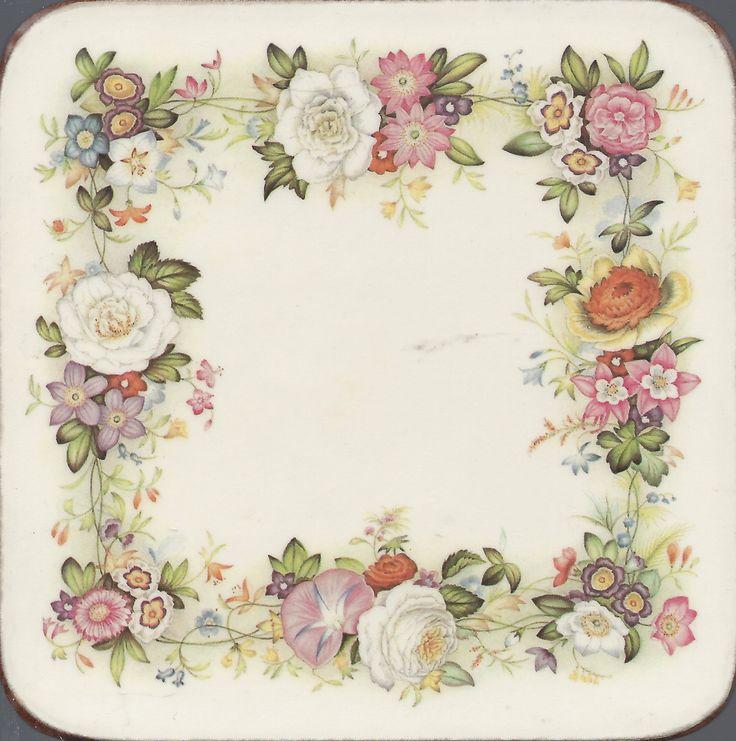 decoupage : frame  cornice di fiori