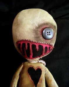 Handmade Voodoo Doll Lazarus by Moody Voodies!  Check out more voodoo and horror dolls here: https://www.etsy.com/shop/MoodyVoodies #goth #gothic #horror #horrordolls #voodoodolls #dolls #darkdolls #creepy